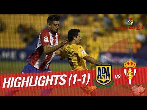 Resumen de AD Alcorcón vs Real Sporting (1-1)