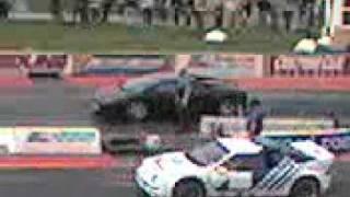 lambo Vs ford rs200 at santa pod