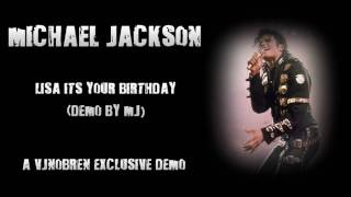 Watch Michael Jackson Lisa Its Your Birthday video