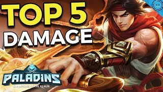 Top 5 Best Damage Champions In Paladins! (Competitive Tier List)