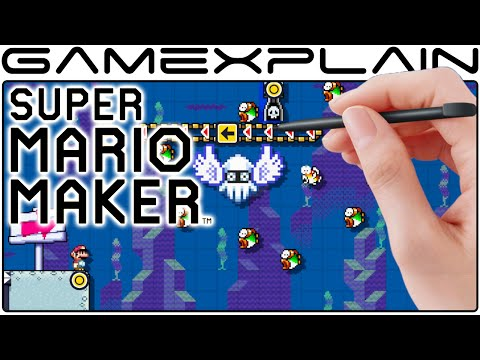 Super Mario Maker: 6 Minutes of Aimless Level Creation (Direct Feed)