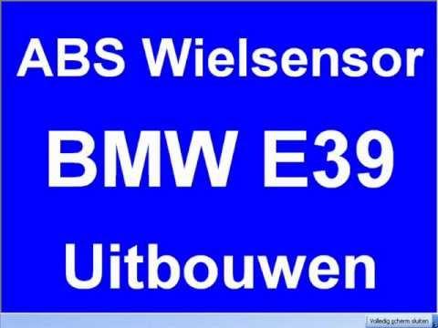 Uitbouwen ABS wielsensor links- rechts- achter voor BMW E39 520D 530D 523i 728i