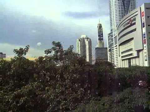 2008/08/31 【車窓】 バンコク BTS スカイトレイン / Bangkok BTS Skytrain: Siam – Chit Lom