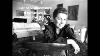Galina Vishnevskaya: Songs of Pyotr Ilyich Tchaikovsky