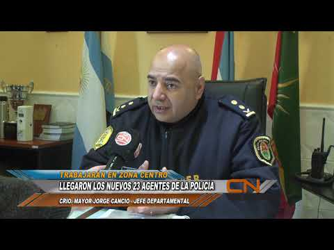 Se sumaron 23 nuevos agentes de Policía a la Jefatura Departamental Concordia