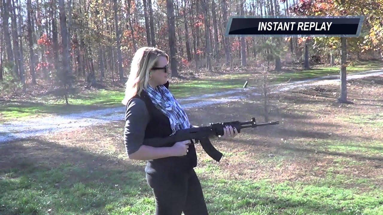Girl Shooting AK47 - YouTube