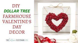 DIY Dollar Tree Valentine's Day Decor - Farmhouse Valentine's Decor
