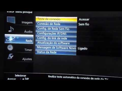 Como configurar wifi tv panasonic viera smart TV e acessar a rede sem fio