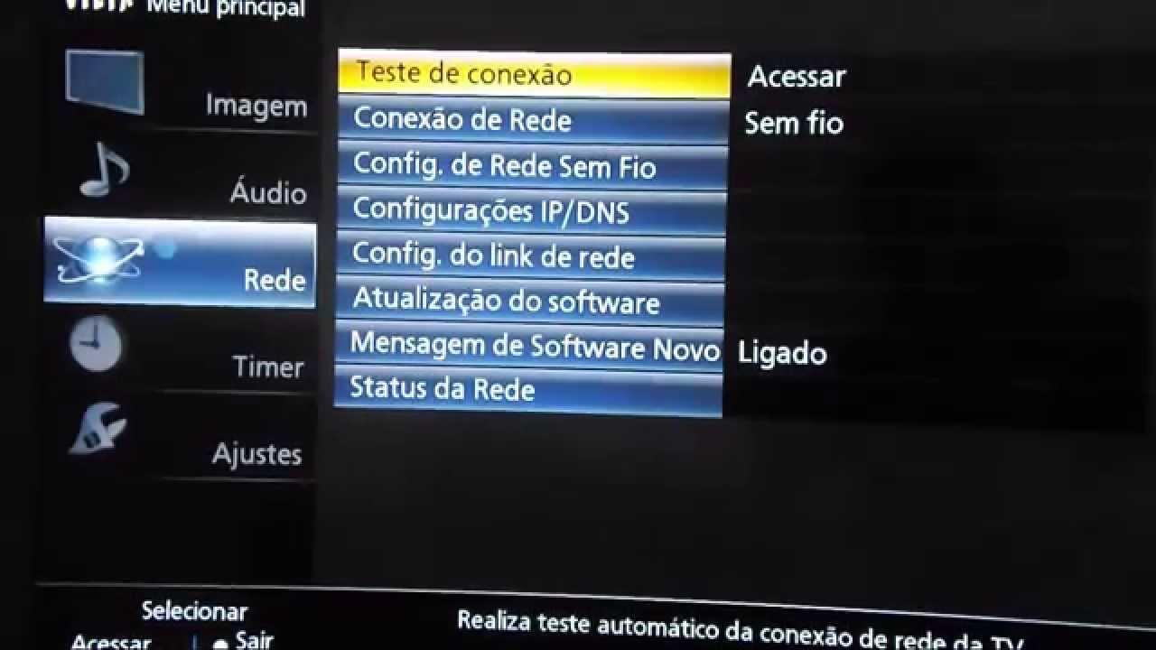 como atualizar firmware smart tv samsung cabo de rede