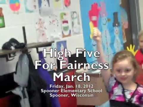 High Five For Fairness March at Spooner Elementary School