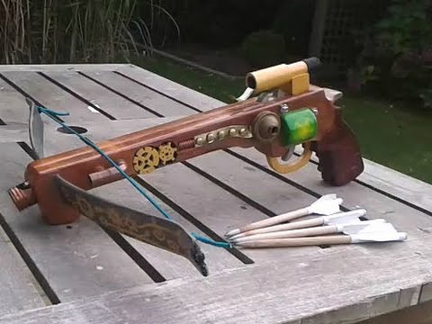 Homemade Pistol Crossbow Tutorial Made Mostly With Hand