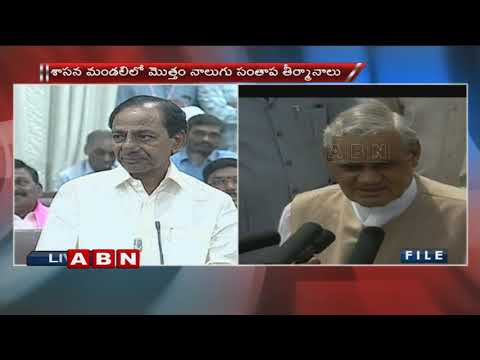 CM KCR Speech at Telangana Legislative Council | ABN Telugu