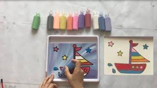 Trò chơi tô màu tranh cát - BonBon ToysReview Entertainment - Coloring game with sand paintings