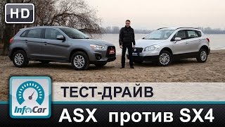 Suzuki SX4 vs Mitsubishi ASX. Сравнение Мицубиси ASX 2014 и Сузуки S-Cross 2014