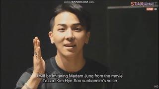 Mino impersonating Kim Hyesoo of Tazza Movie
