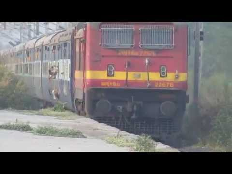 Wap-4 With Swaraj Express At 110! Best Scene To Witness. video