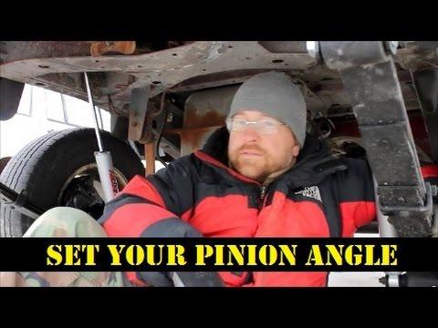 How to Set Pinion Angle