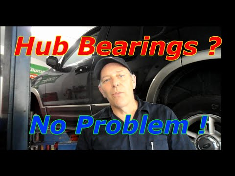 How to replace front hub bearings on a Ford Explorer