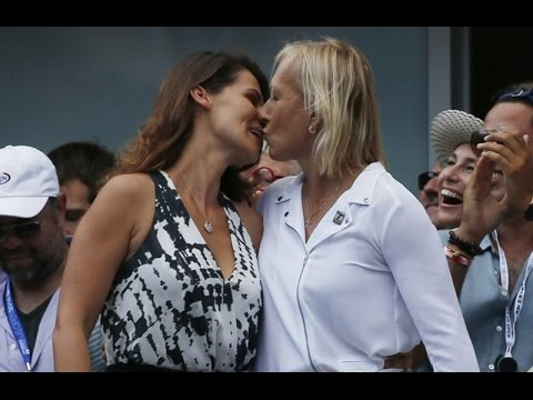 Martina Navratilova - girlfriend Julia Lemigova engagement