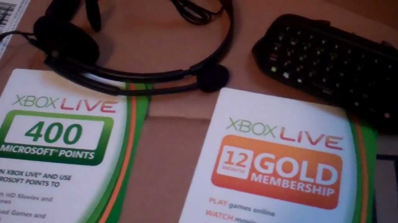 Original Xbox Live Starter Kit Xbox Live Gold Starter Kit