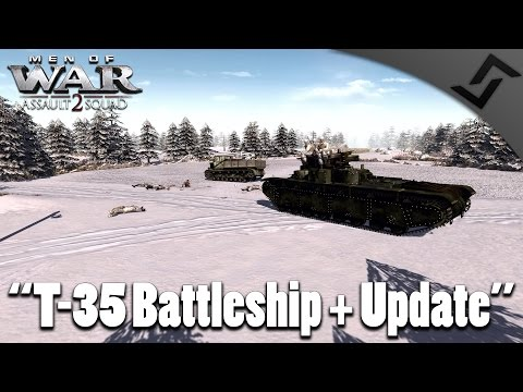 Men of War: Assault Squad 2 - T-35 Battleship + Update (GSM / German Soldiers Mod)