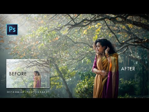 Photoshop cc tutorial: How to retouch outdoor portrait | How to edit outdoor Photography