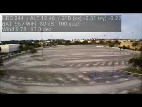 AR Drone Range Test 1.100ft at the Mall Parking Lot