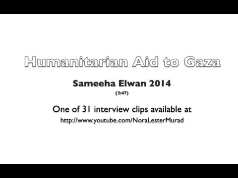 Humanitarian Aid to Gaza with Sameeha Elwan