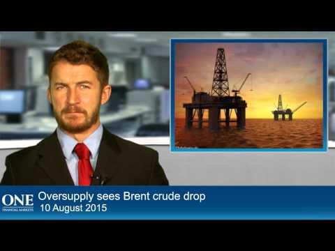 Oversupply sees Brent crude drop