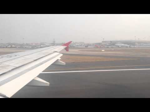 Air India Airbus A319-100 Takeoff from Mumbai 29.03.2015