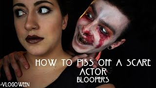 HOW TO PISS OFF A SCARE ACTOR: BLOOPERS | #VLOGOWEEN