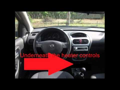 Vauxhall Opel Corsa C Diagnostic Port Location Video Youtube