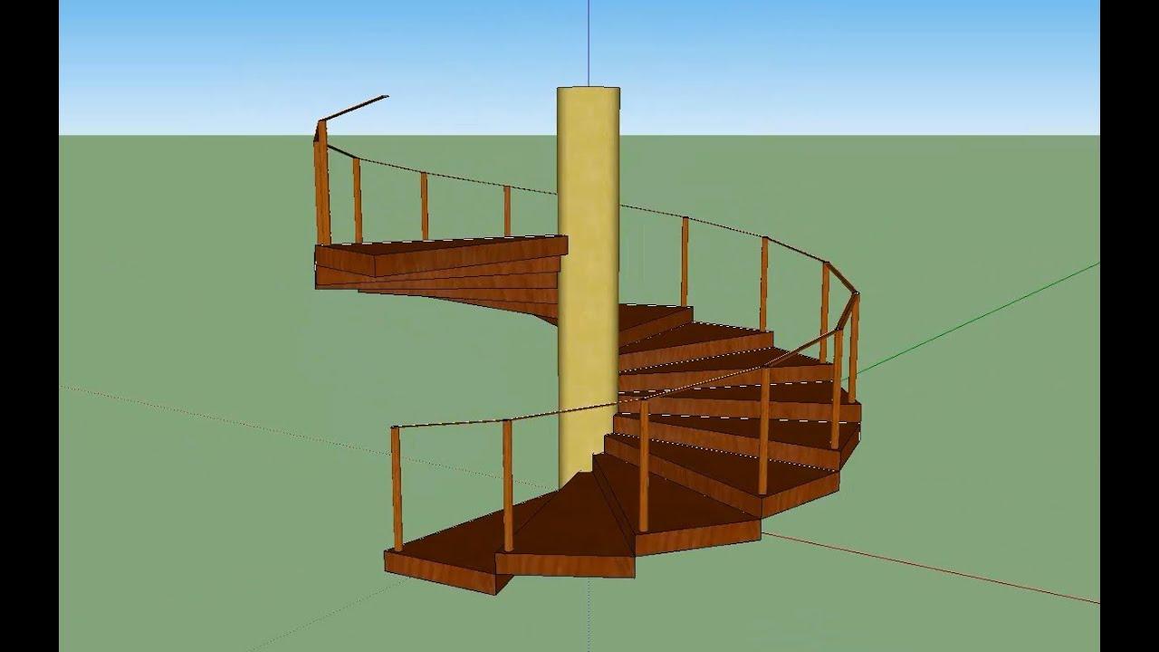 Escada espiral sketchup 8 youtube for Mobilia para sketchup 8