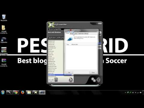 How to fix PES 2014 LAG on PC with Direct3D overrider & LunaWorX net TopWinPrio