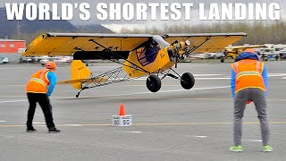 STOL World Record Shortest Landing 9 Feet 5 Inches