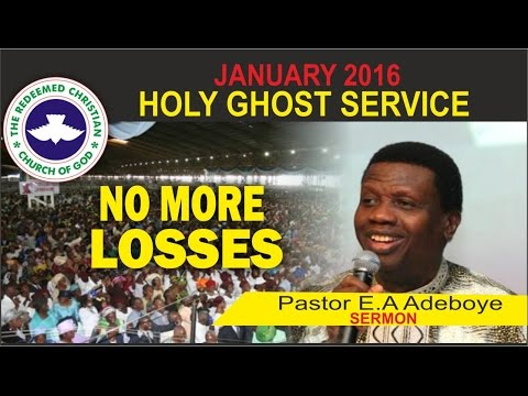 """JANUARY 2016- RCCG HOLY GHOST SERVICE """"No More Losses"""""""