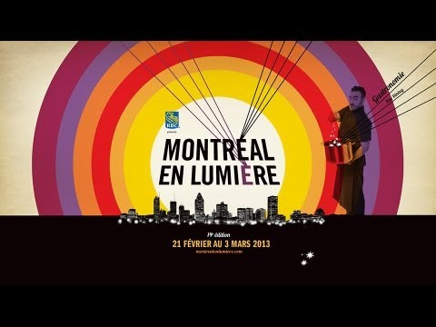 Gaële et la conférence de presse de Montréal en lumière 2013
