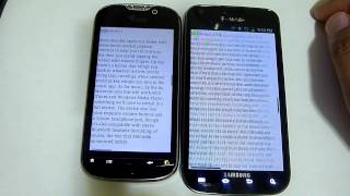 t-mobile Galaxy s2 vs mytouch 4g browser speedtest