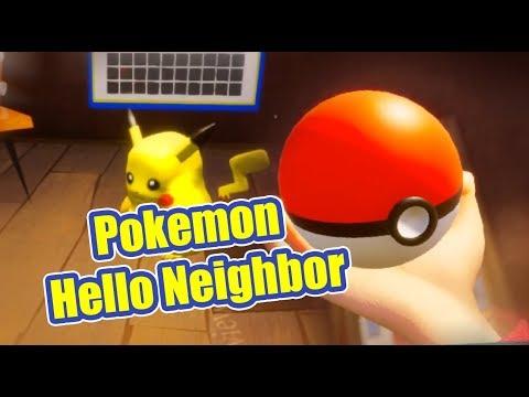 Pokemon Go Hello Neighbor - Catch Pikachu