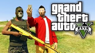 GTA 5 BOUNTY HUNTERS #43 - SELFIES AND SNIPE SHOTS! (GTA V Online)