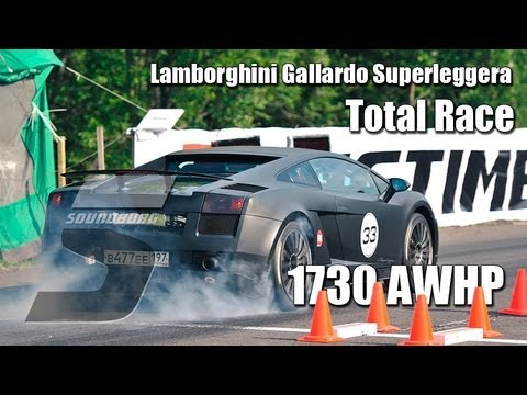 1730whp Lamborghini Gallardo Superleggera Total Race Unlim 500+ (20.10.2012)