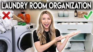 LAUNDRY ROOM MAKEOVER **ORGANIZATION IDEAS**