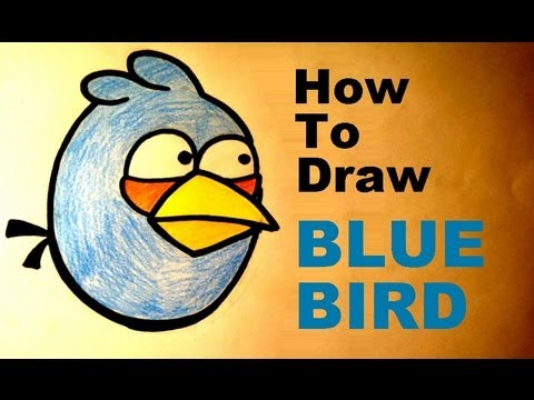 Angry Birds Toons Drawing How to Draw Blue Bird Angry