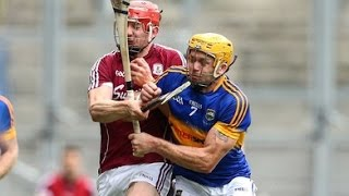 Pádraic Maher crunches Joe Canning
