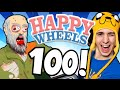 LIVE! - Happy Wheels [Ep.100!]