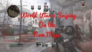 I hit on the new maps!!(Call of duty World War 2 sniping on the new dlc map occupation, + New into)