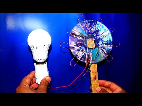 Free Energy Electricity Light Bulb From Solar Cell - 100% Free Energy Electricity Using CD Flat thumbnail