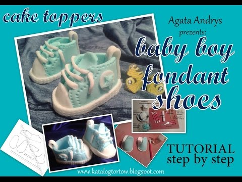 Fondant Cake Decorating Step By Step : How To Make A Baby Converse Shoe From Gumpaste / Fondant ...