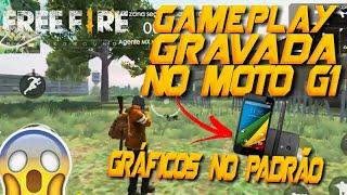 GAMEPLAY DE FREE FIRE NO MOTO G1 COM GRÁFICOS NO PADRÃO (MEDIO) | JOGANDO FREE FIRE NO MOTO G1
