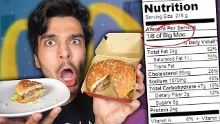 Only Eating Recommended Serving Sizes for a Day! (IMPOSSIBLE 24 HOUR FOOD CHALLENGE)